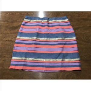 J. Crew Short Striped Skirt Size 00 Stripes